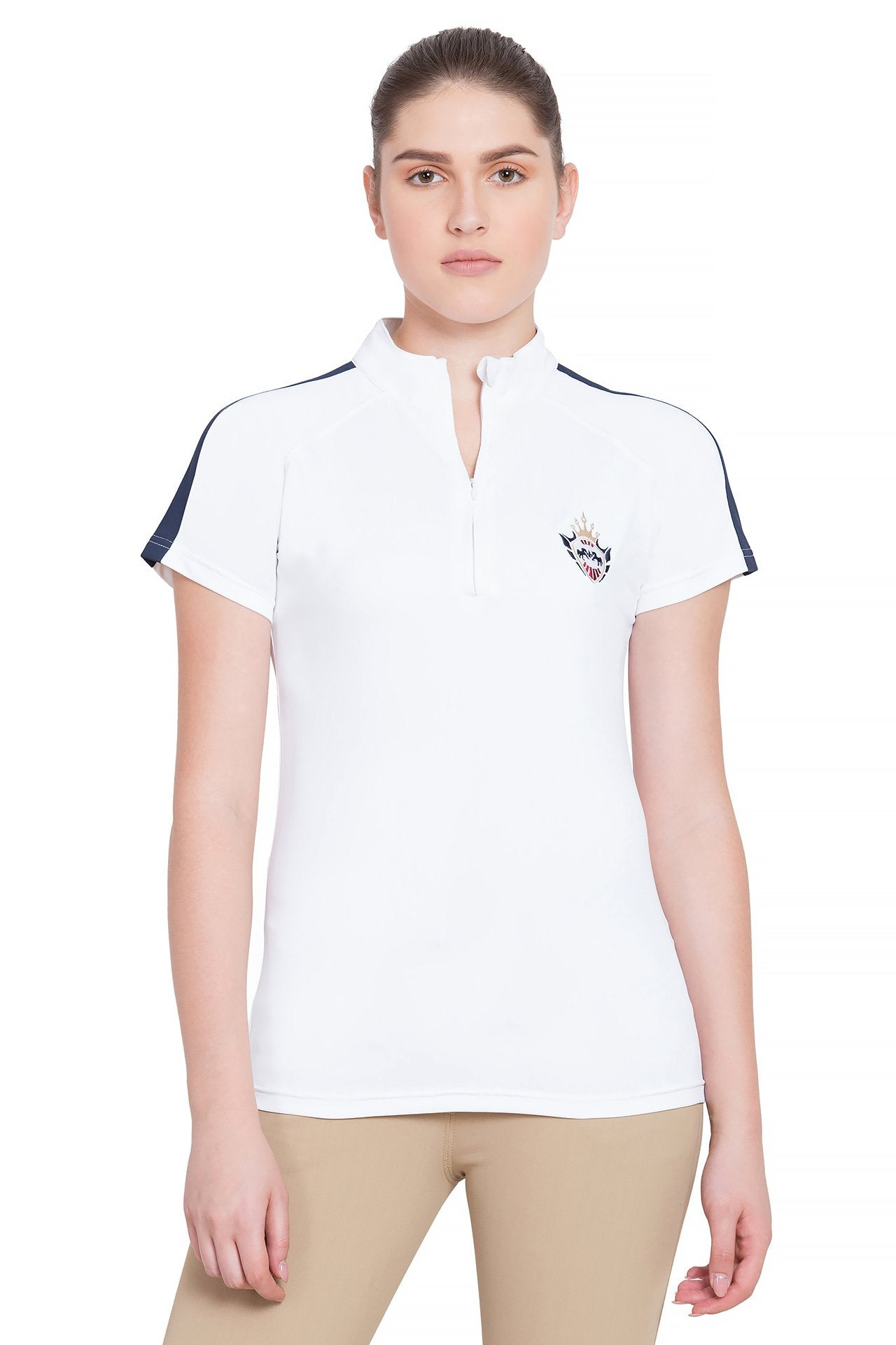 Equine Couture Ladies Jordan Short Sleeve Sport Shirt_1