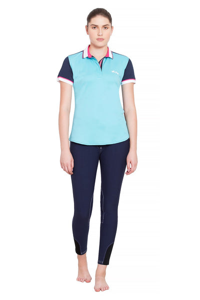 Equine Couture Ladies Pearl Short Sleeve Polo Sport Shirt_14