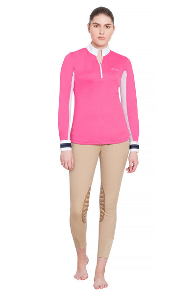 Equine Couture Ladies Penelope Long Sleeve Show Shirt_14