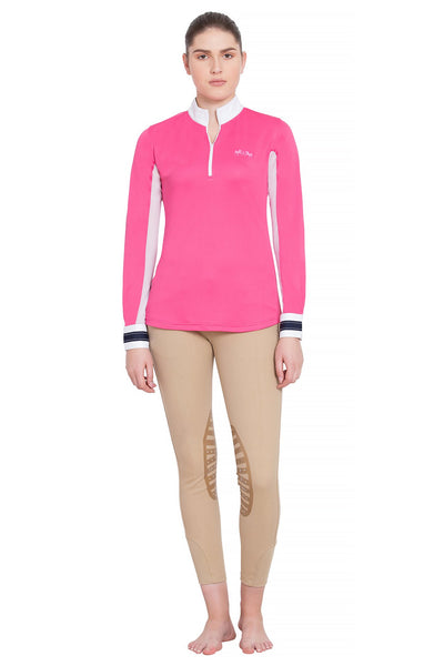 Equine Couture Ladies Penelope Long Sleeve Show Shirt_15