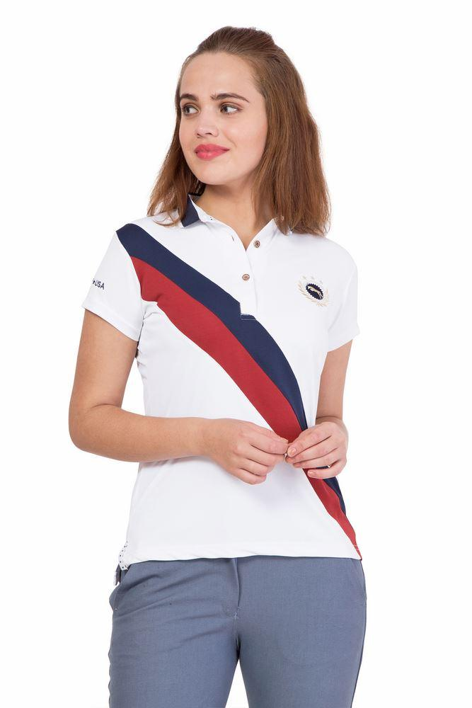 Aztec Ladies Short Sleeve Regular Fit Polo Shirt - JUMP USA - Breeches.com