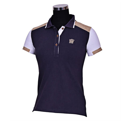 George H Morris Ladies Reserve Short Sleeve Polo Sport Shirt_3