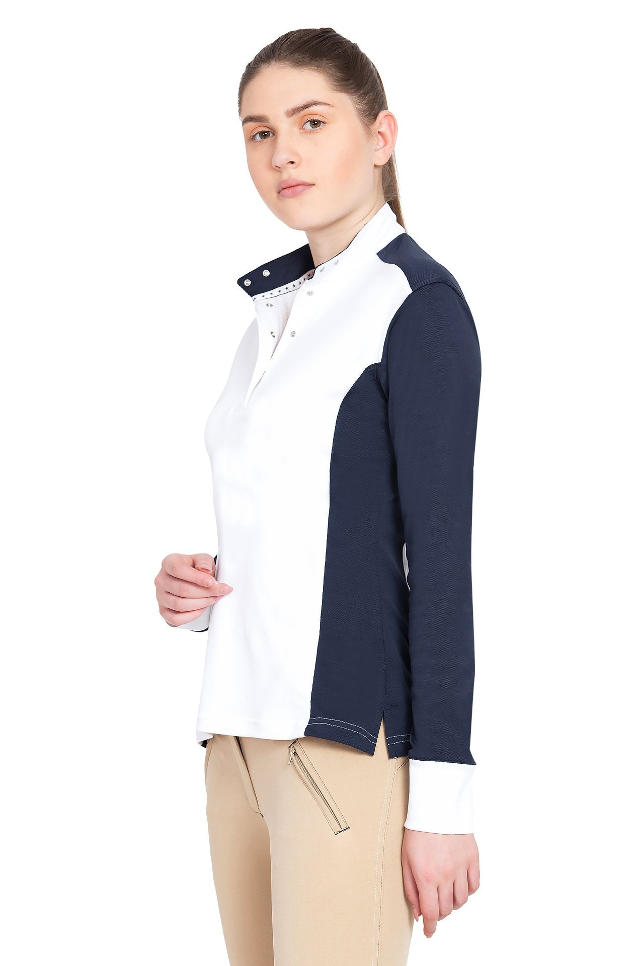 George H Morris Ladies Champion Long Sleeve Show Shirt_1