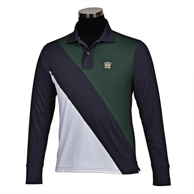 George H Morris Men's Pro Sport Long Sleeve Polo Sport Shirt_1