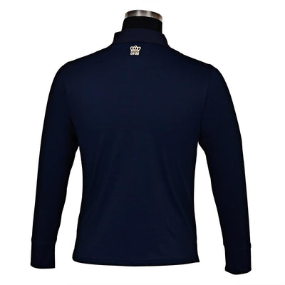 George H Morris Men's Pro Sport Long Sleeve Polo Sport Shirt_4