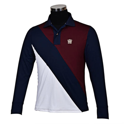 George H Morris Men's Pro Sport Long Sleeve Polo Sport Shirt_3
