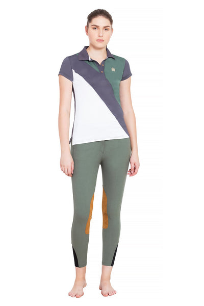George H Morris Ladies Pro Sport Short Sleeve Polo Sport Shirt_6