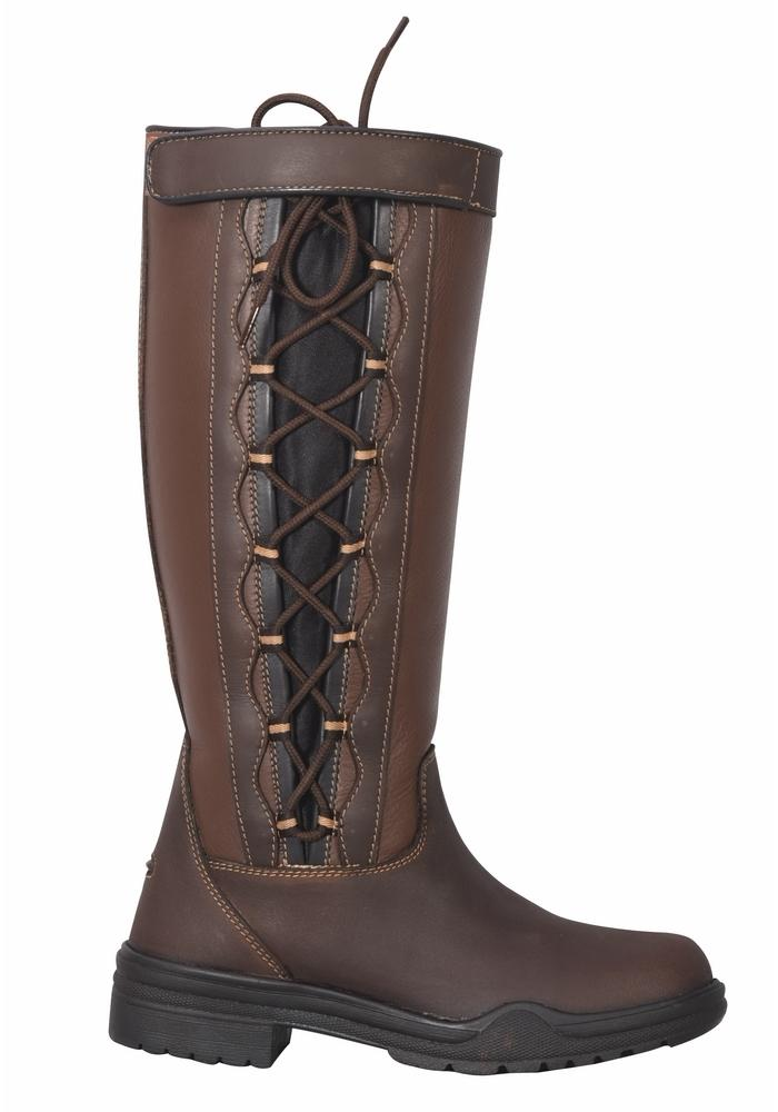 Ladies Ajuste Waterproof Leather Country Boots - TuffRider - Breeches.com