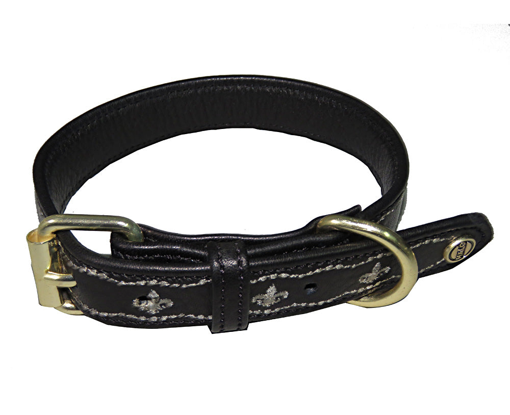 Dog Collar - Leather with FDL Dog Collar - Halo - Breeches.com