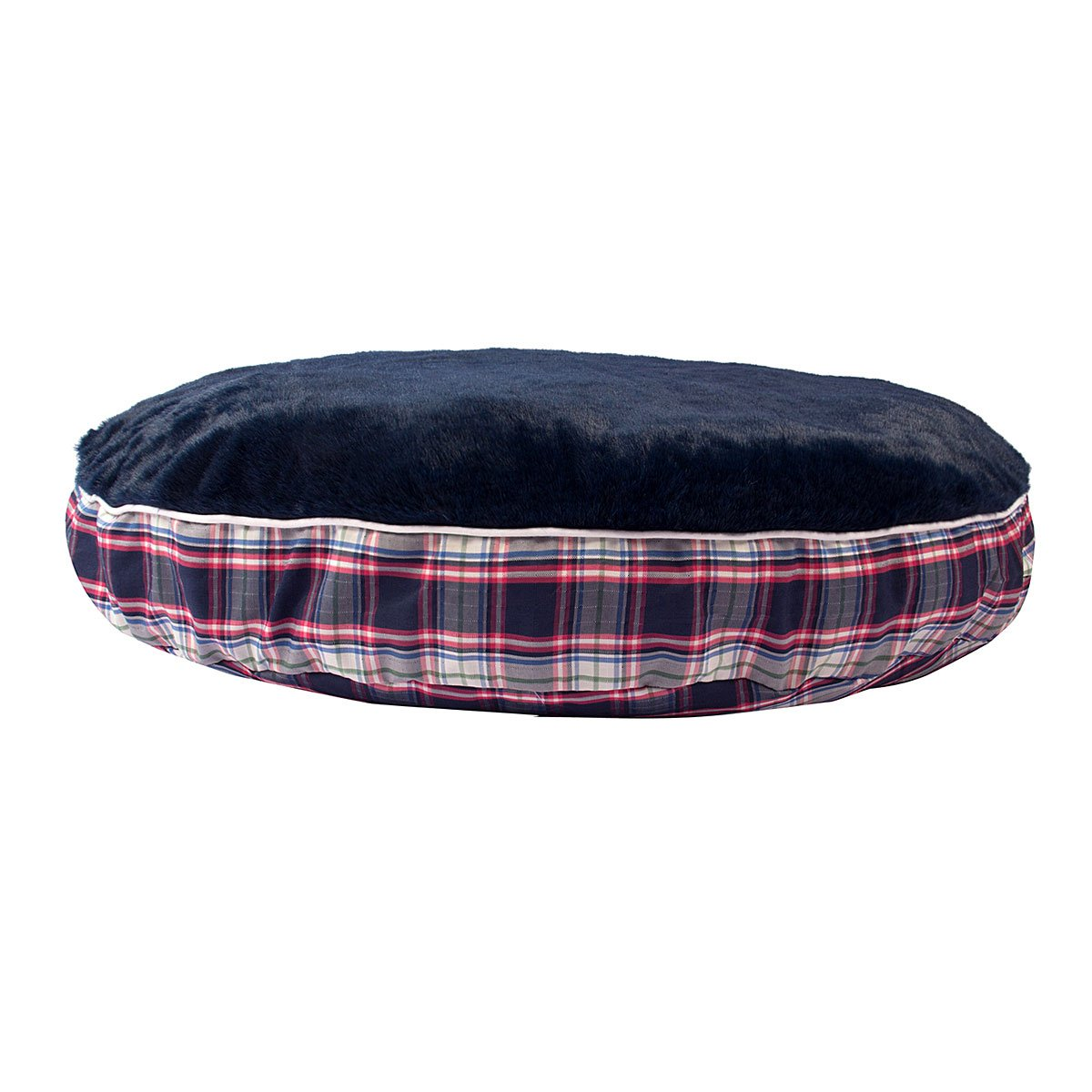 Amber Plaid Round Dog Bed - Halo - Breeches.com
