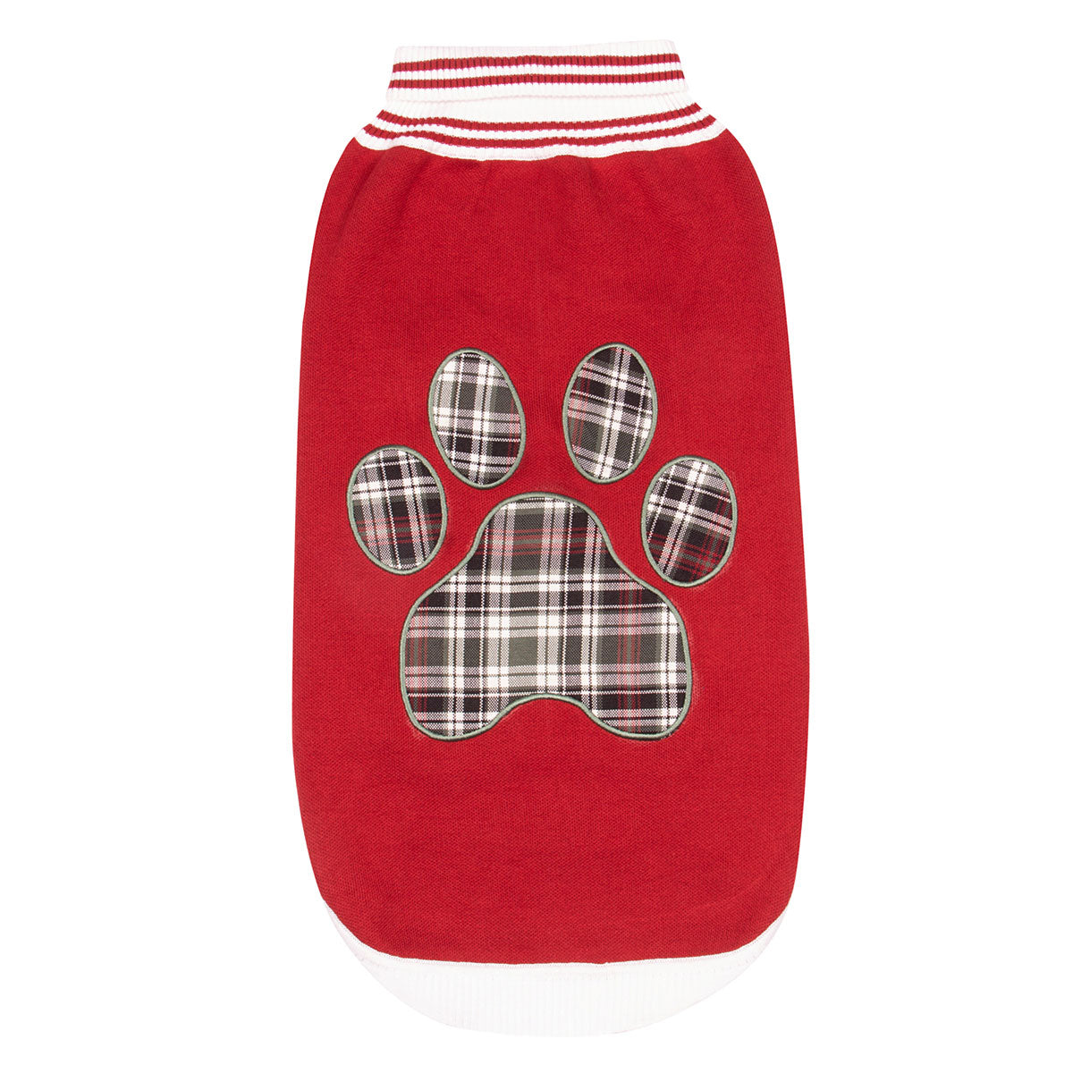 EC Red Plaid Paw Sweater - Halo - Breeches.com
