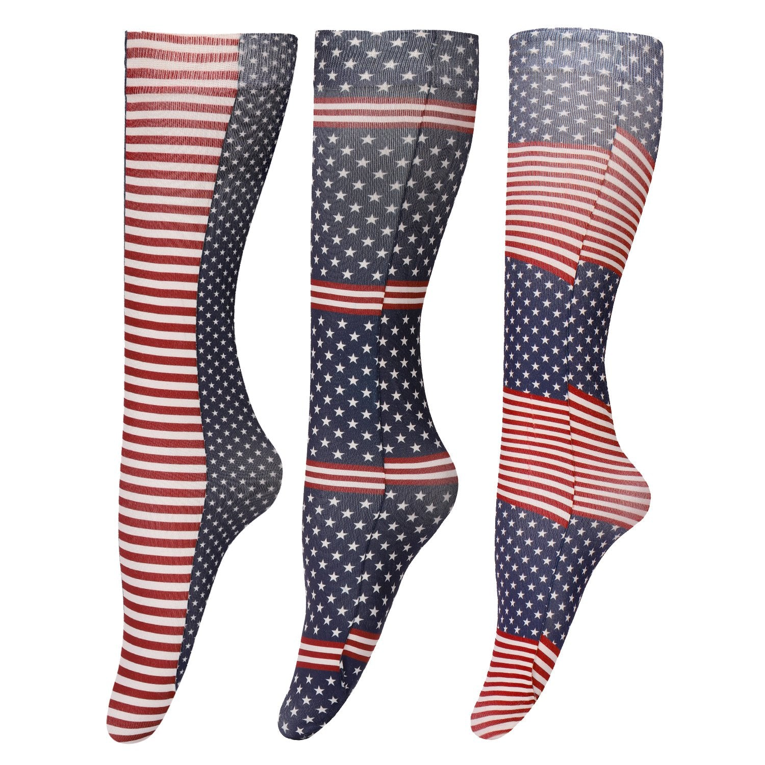 TuffRider Patriotic 3 Pack Socks_1