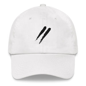 White Slashes Dad Hat