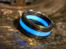 Load image into Gallery viewer, Eclipse solid carbon fiber and AGT ULTRA lume ring