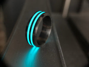 Horizon ring (double stripe titanium)