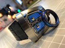 Load image into Gallery viewer, Tikron flame-treated titanium damascus band