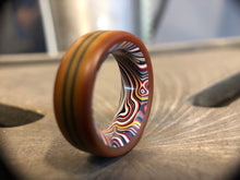 Load image into Gallery viewer, Fordite / Vintage Westinghouse Micarta ring