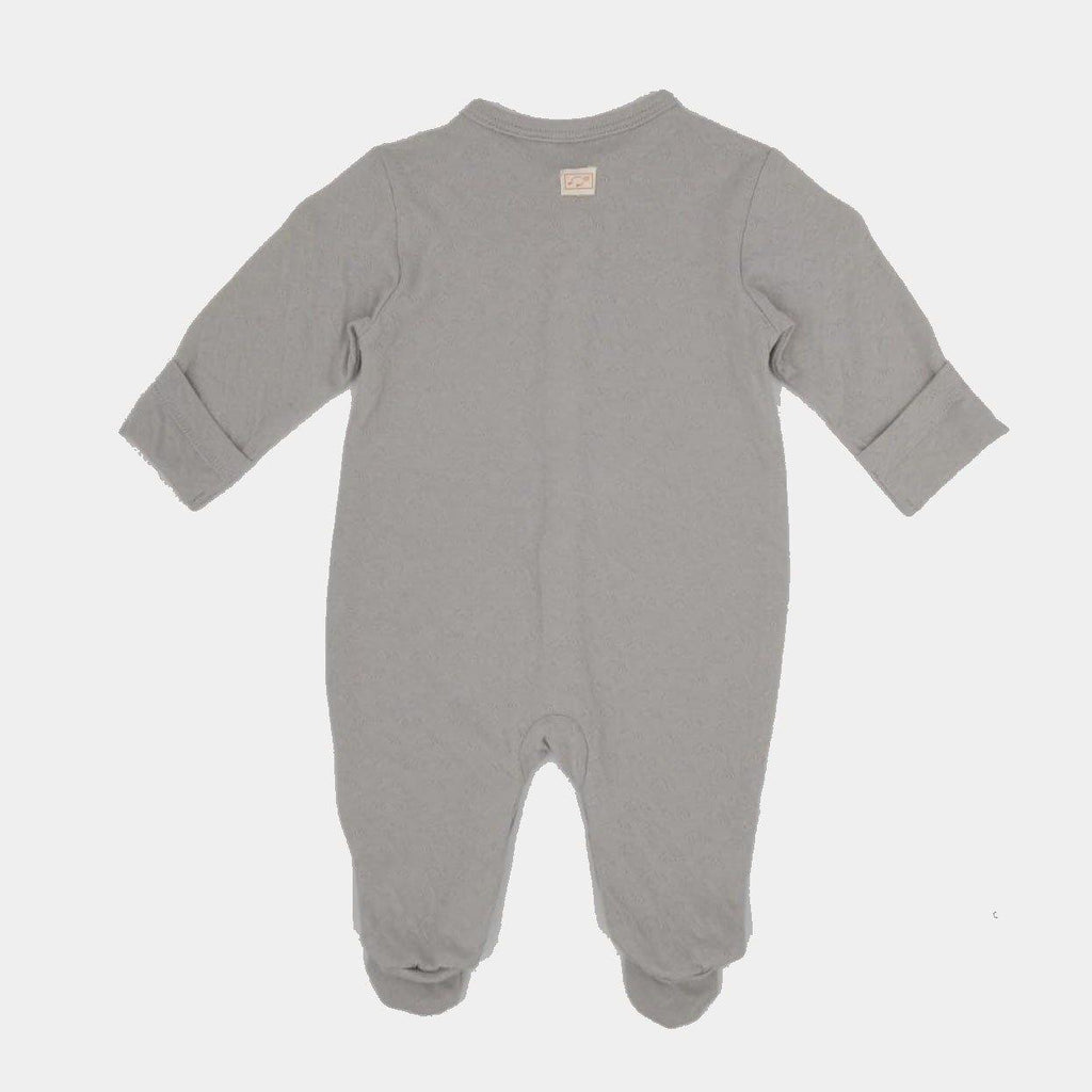 Organic  Footed Babygrow Ice Grey - kapbulaorganics