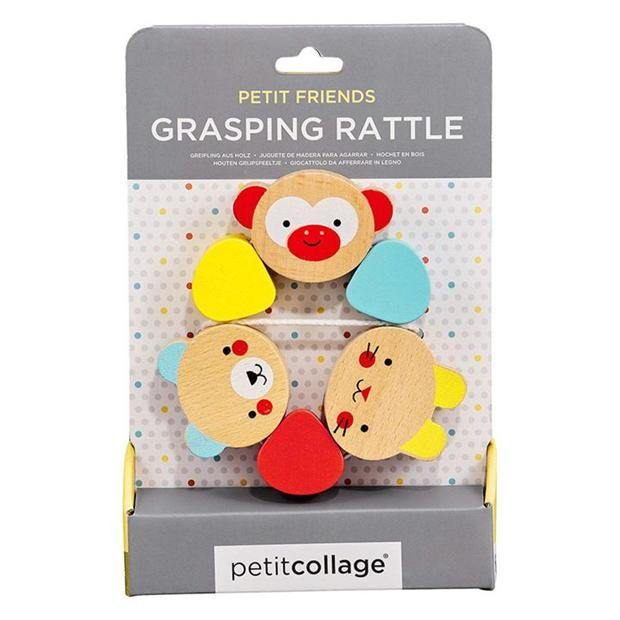 Petit Collage Wooden  Grasping Rattle - kapbulaorganics