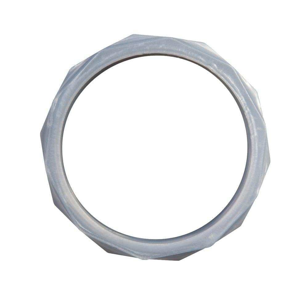 Nibbling Silicone Teething Bangle – Silver - kapbulaorganics