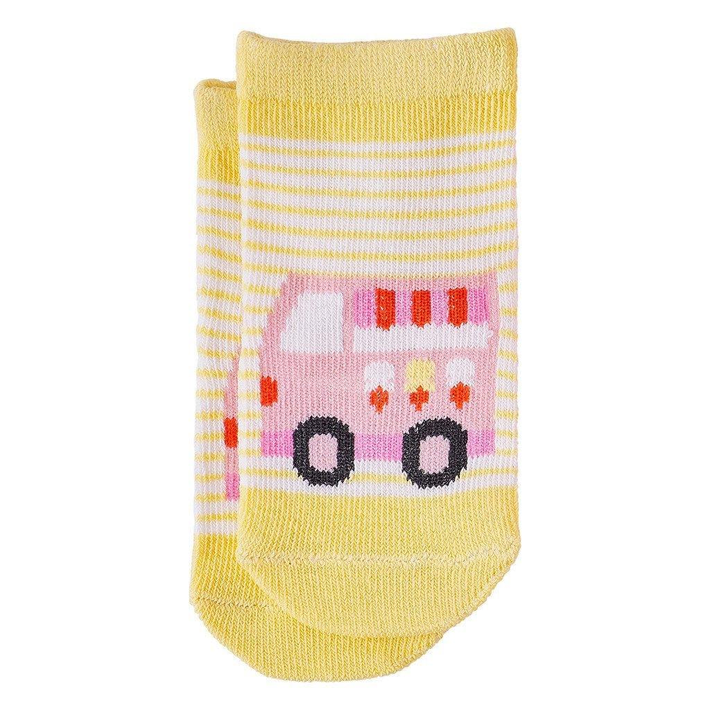 Organic Ice Cream Van Toddler Socks (12-18 Months) - kapbulaorganics