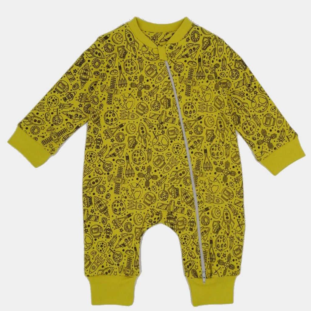 Organic Romper Space Jungle - kapbulaorganics