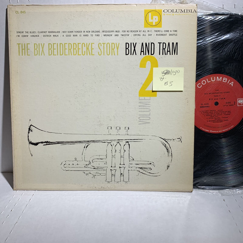 The Bix Beiderbecke Story Bix and Tram Vol 2- Columbia CL 845 VG+-/VG(+)