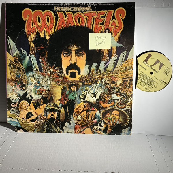 Frank Zappa 200 Motels- United Artists UAS 9956 2LP Soundtrack Record