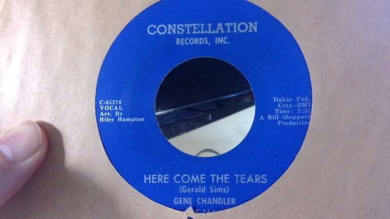 Gene Chandler- Here Come The Tears/Soul Hootenanny- Constellation 164 EX