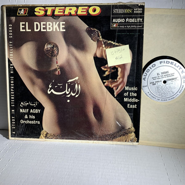 Naif Agby El Debke Music Of The Middle East- Audio Fidelity VG+ World Record