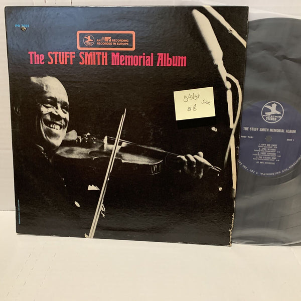 The Stuff Smith Memorial Album- Prestige PRST 7691 VG(+)/VG+ Jazz Record LP