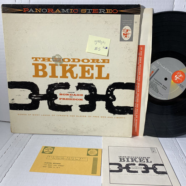 Theodore Bikel From bondage To Freedom Elektra Folk Vinyl Record LP VG(+)