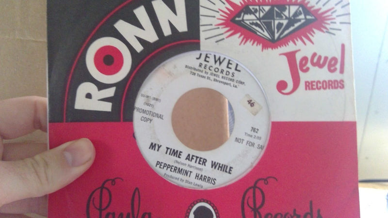 Peppermint Harris- Raining In My Heart/My Time Afer While- Jewel 762 PROMO- VG