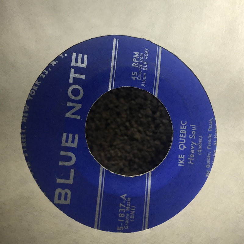 Ike Quebec- Heavy Soul/The Man I Love- Blue Note 45-1837 VG