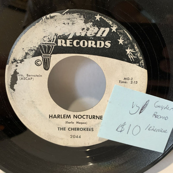 The Cherokees Harlem Nocturne Gayden 2044 Promo VG Rock Record 45 Single