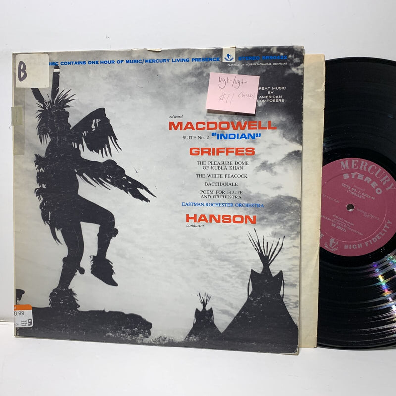 Edward Macdowell Indian Griffes Hanson Mercury 90422 VG+-/VG+- Classical