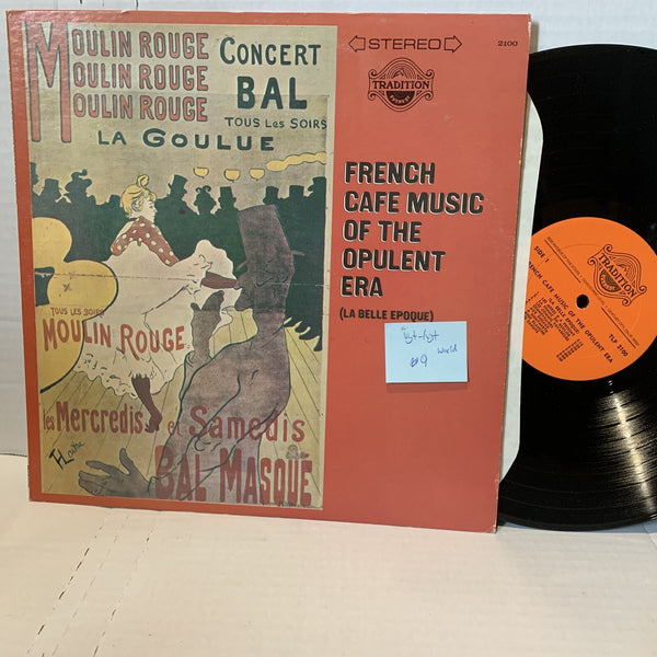 French Café Music Of The Opulent Era Tradition Everest 2100 VG+-/VG+ FW LP