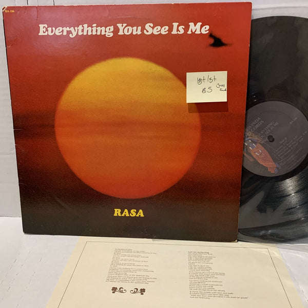 Rasa Everything You See Is Me- Govinda Records RA 106 VG+ Jazz Funk Record LP
