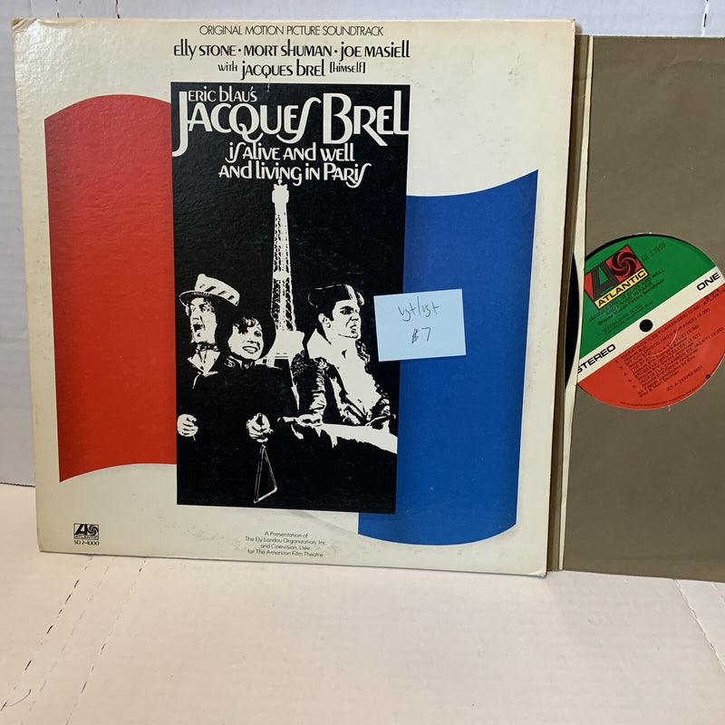 Eric Blaus Jacques Brel Is Alive And Well Original Movie Soundtrack Record 2LP