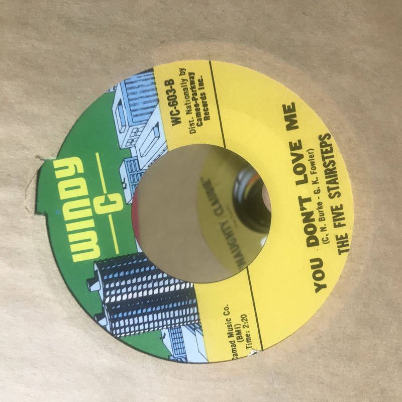 The Five Stairsteps- Come Back/You Don't Love Me- Windy C 603- EX+