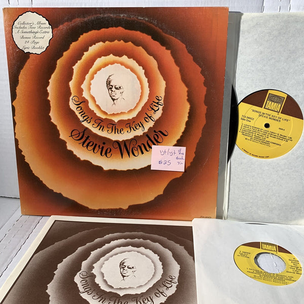 "Stevie Wonder Song In The Key Of Life- Tamla 340 VG+ w/book + 7"" SE press LP"