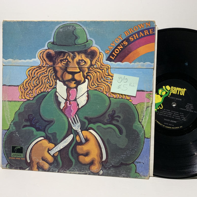 Savoy Brown Lion's Share- Parrot 71067 VG/VG Rock LP