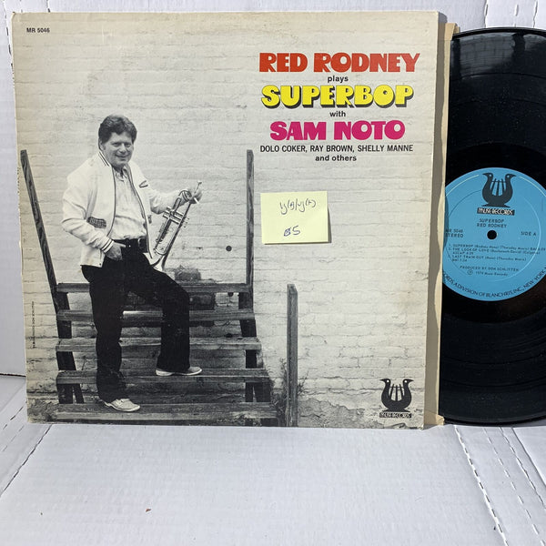 Red Rodney Plays Superbop w/ Sam Noto Muse 5046 VG(+)/VG(+) Jazz Record