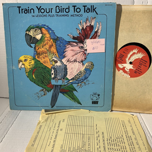 Train Your Bird To Talk 14 Lessons Eagle 3137 Novelty Vinyl Record LP VG(+)