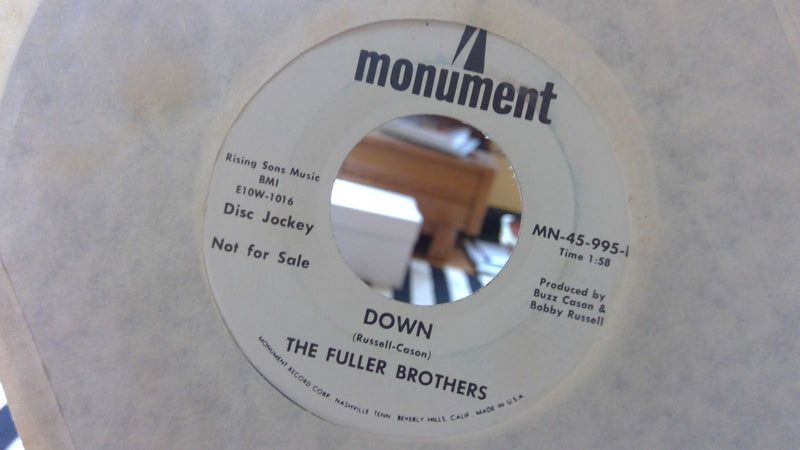 Fuller Brothers- Big Church Wedding / Down- Monument 45-995 PROMO