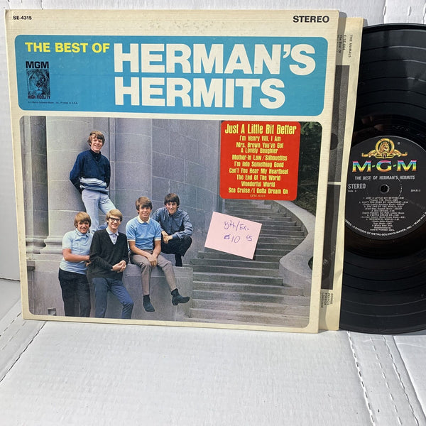 Herman's Hermits The Best Of- MGM SE 4315 VG++/EX- 1965 Rock Record LP