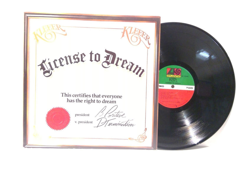Kleer- License To Dream- Atlantic SD 19288 MO- VG++/VG++ Rare variant Disco Funk