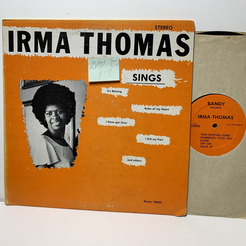 Irma Thomas Sings- Bandy 700003 VG/VG+ Bayou Funk nonfeelable marks