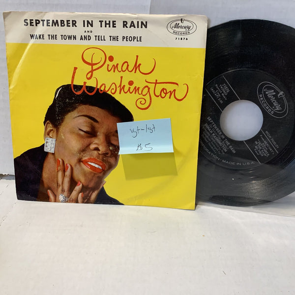 Dinah Washington Seprember In The Rain- Mercuryt 71876 VG+-/VG+ Pic Sleeve