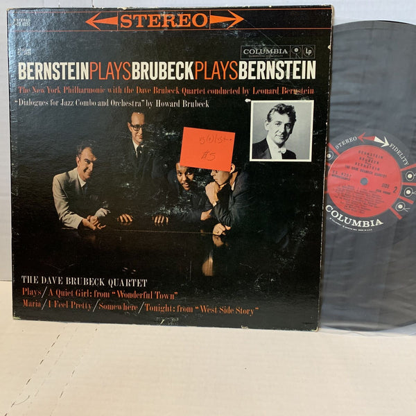 Bernstein Plays Brubeck Columbia CS 8257 VG(+)/VG(+) Jazz Record LP Stereo